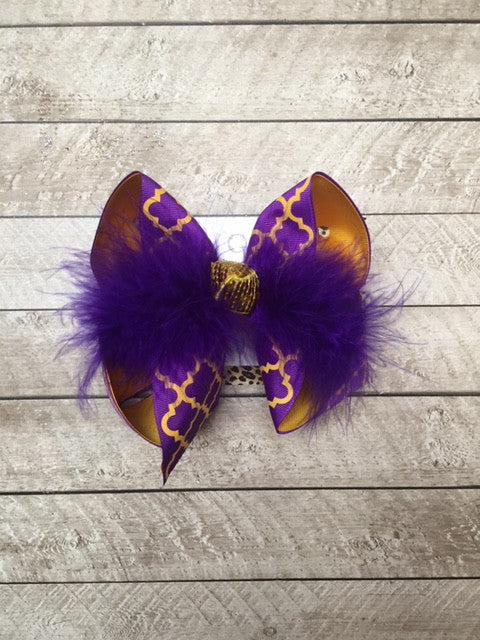 LSU Football | Go Tigers | New Limited Hair-bow Designs