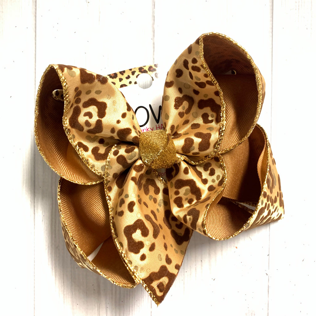 Velvet Leopard Fun Hairbows by  iBOWZ