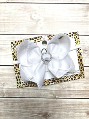 New Limited Silk Duponi Crystal Center Bundle Or Single Bow ~ baby toddler bow