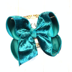 Crush Velvet ~Christmas Velveteen ~ choose your color bow ~ Very Limited