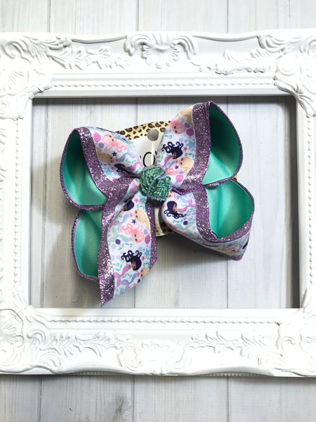 iBOWZ Mermaid Watercolor Fun & funky Hairbow