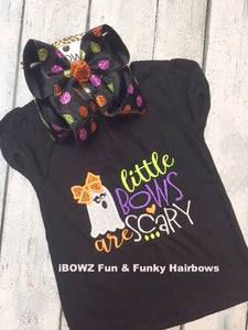 Halloween ~ Little bows are Scary! Shirt and Matching Hair-bow