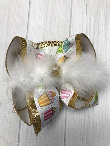 Cupcakes Lovers ~OH MY! Summer Fun Cupcake hair bow | First Birthday hair bow | Birthday Prop