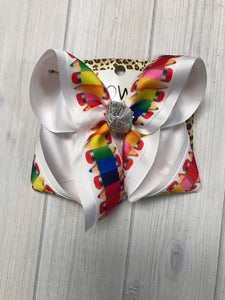 New Fun primary Pencil bow on white