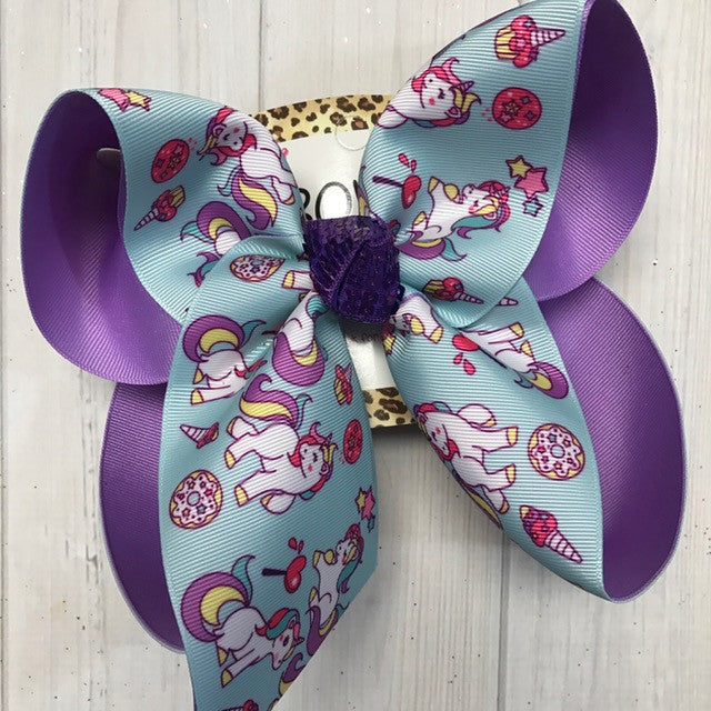 New Unicorn Fun iBOWZ | Turquoise and Orchid