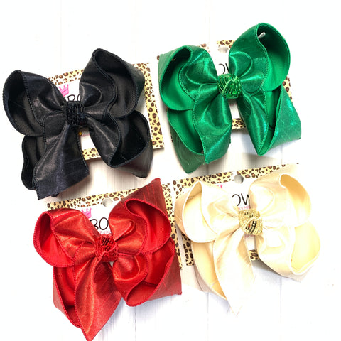 Bundle & Save $5~ Red, Black, Emerald & Ivory ~  New Iridescent Silk Fun iBOWZ ~ Limited Time