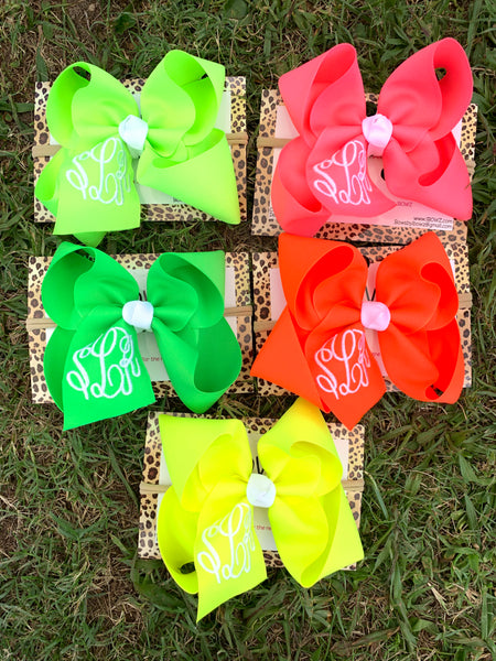 Monogram Neon Bundle with Triple initial Monogram Oh MY! ~Perfect Hanging around the house ~  Great For the Pool