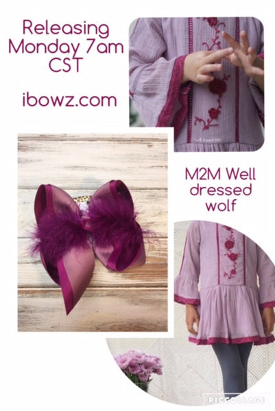 Marguerite Hair bow Inspired by {Well Dressed Wolf }   Designed by iBOWZ