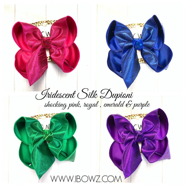 Metallic Iridescent Silk Dupioni Release ~ New Limited iBOWZ