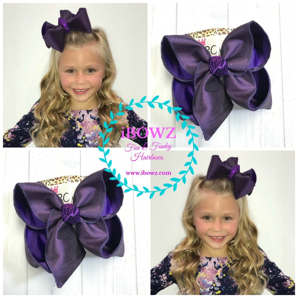 Plum Purple ~ Dressy Fall iBOWZ | Hairbow | Baby bow | Big Mega Bow