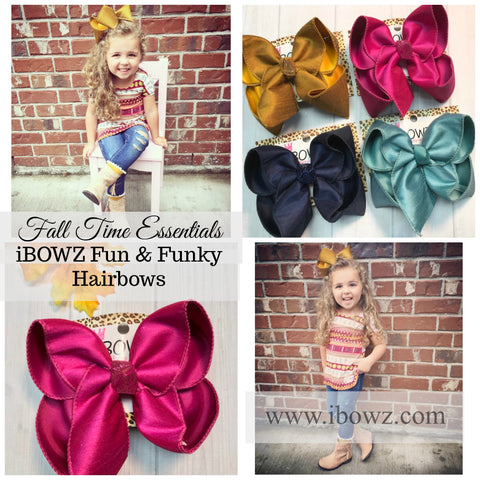 The Perfect Fall Bundle | Everyday Essentials Hairbows ~ Silk Double Layer iBOWZ
