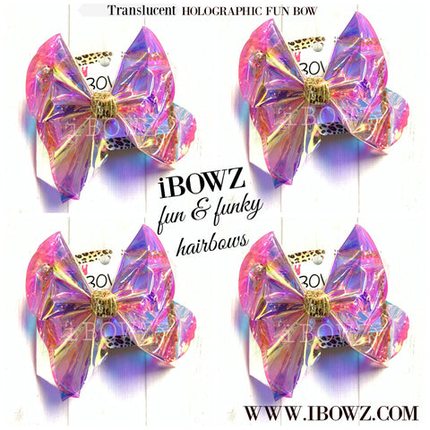 New Translucent Holographic  Jelly Fun Waterproof POOL Hairbow by  iBOWZ ~ Only at iBOWZ