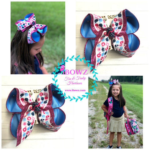 Apple School Fun in BLUE & Pink iBOWZ ~ Sparkle Thursday ~ New & Limited Release