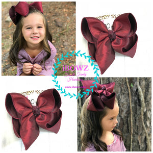 Burgundy/ Maroon  Dressy Fall iBOWZ | Hairbow | Baby bow | Big Mega Bow