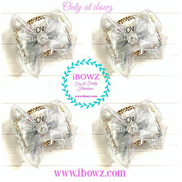 New Clear Jelly Fun Waterproof POOL Hairbow by  iBOWZ ~ Only at iBOWZ