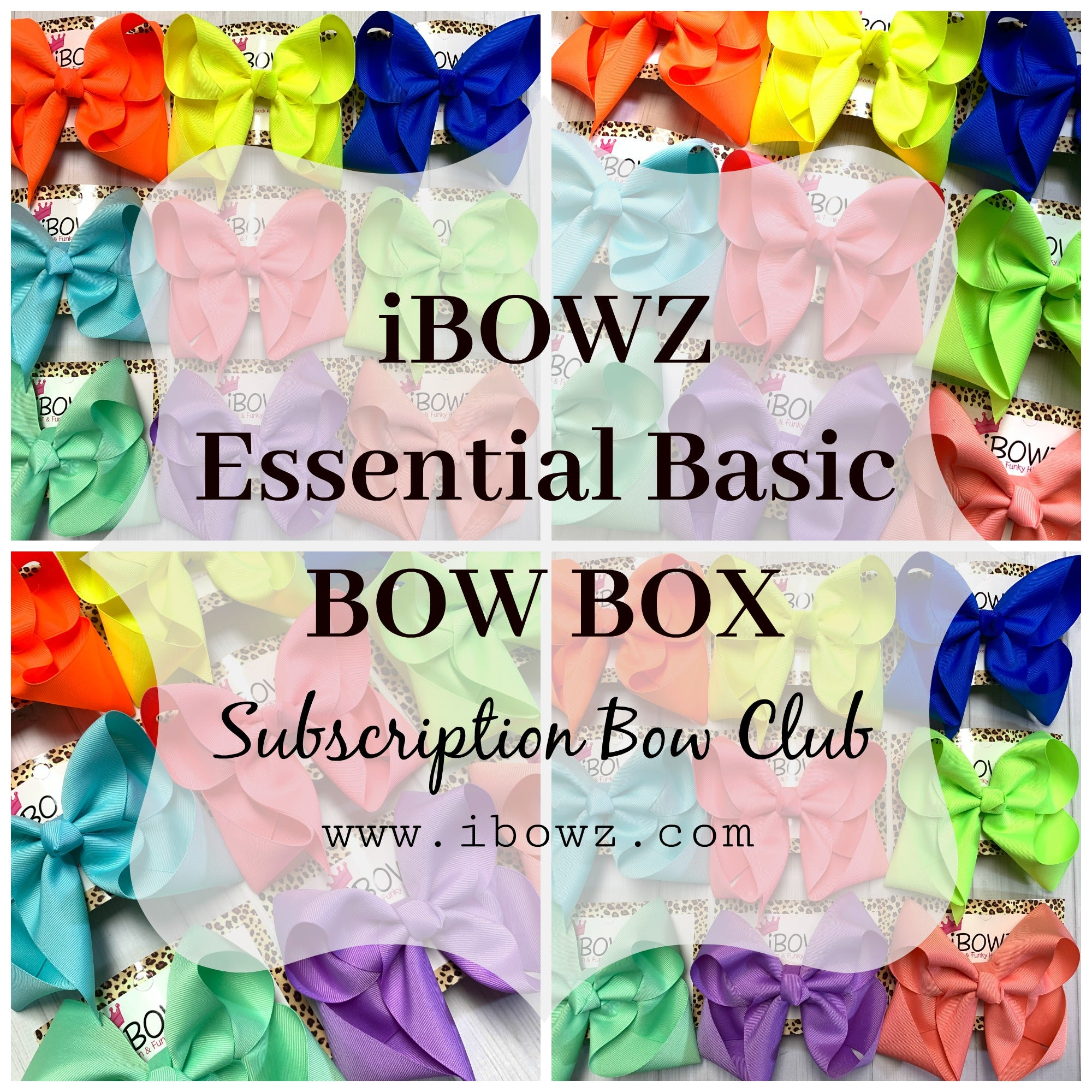 The Essential Basic Bow Box ~ The Monthly Subscription Bow Box ~ iBOWZ Fun & Funky Hairbows