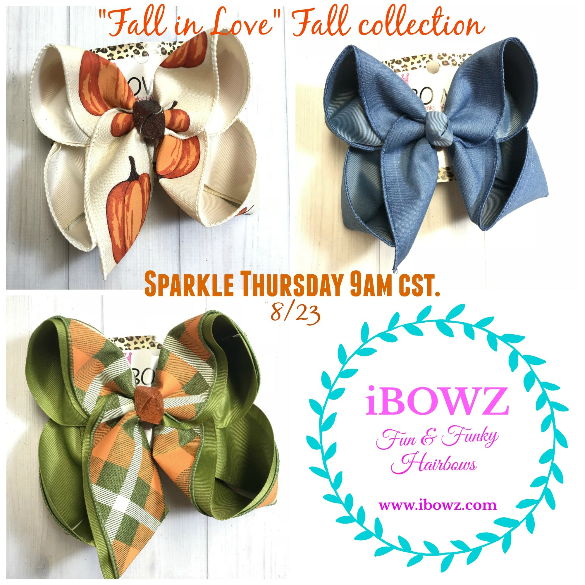 Fall collection Bundle ~Sparkle Thursday~  New Limited Release ~ Fall Fun iBOWZ