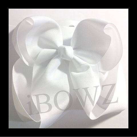 5 Solid basic hair bows