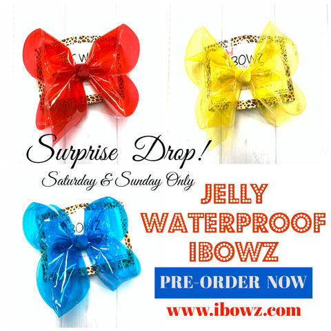 JELLY Bundle !  Jellies  Fun iBOWZ~ Translucent & Waterproof  Hairbows in several Fun Colors ~ iBOWZ Fun & Funky Hairbows