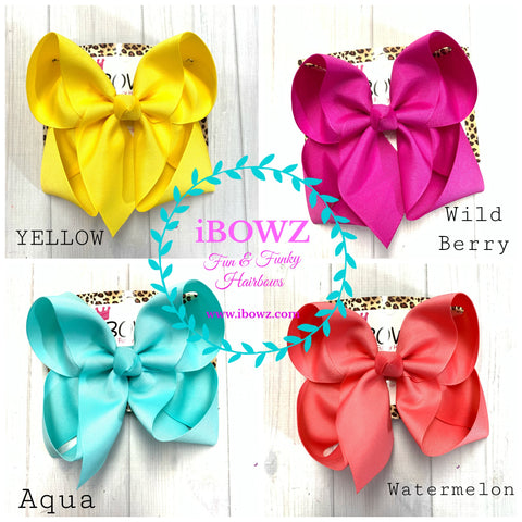 Spring + Summer ~ Solid Basic Bow Bundle