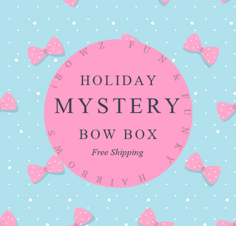 Mystery Holiday/ Theme Bow Box | Subscription bow club | New Bow Every Month | iBOWZ Fun & Funky hairbows