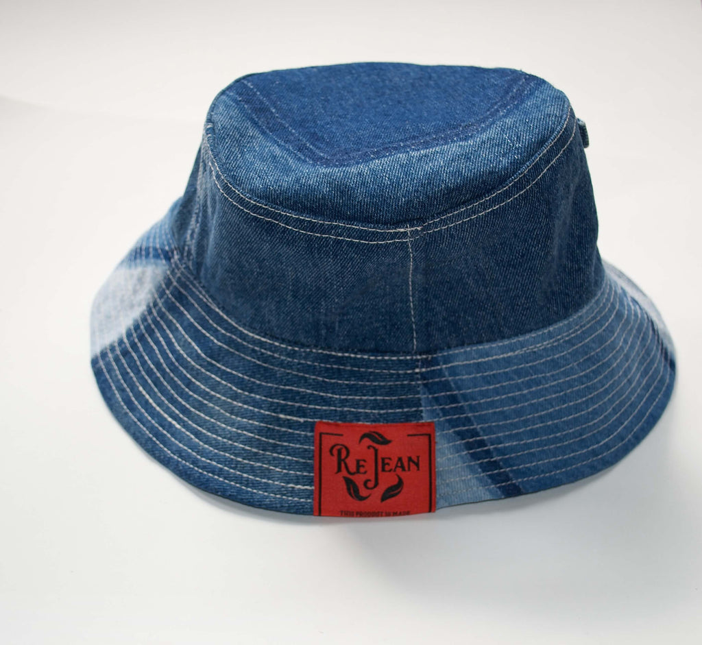 STONE WASH DENIM BUCKET HAT - ReJean Denim
