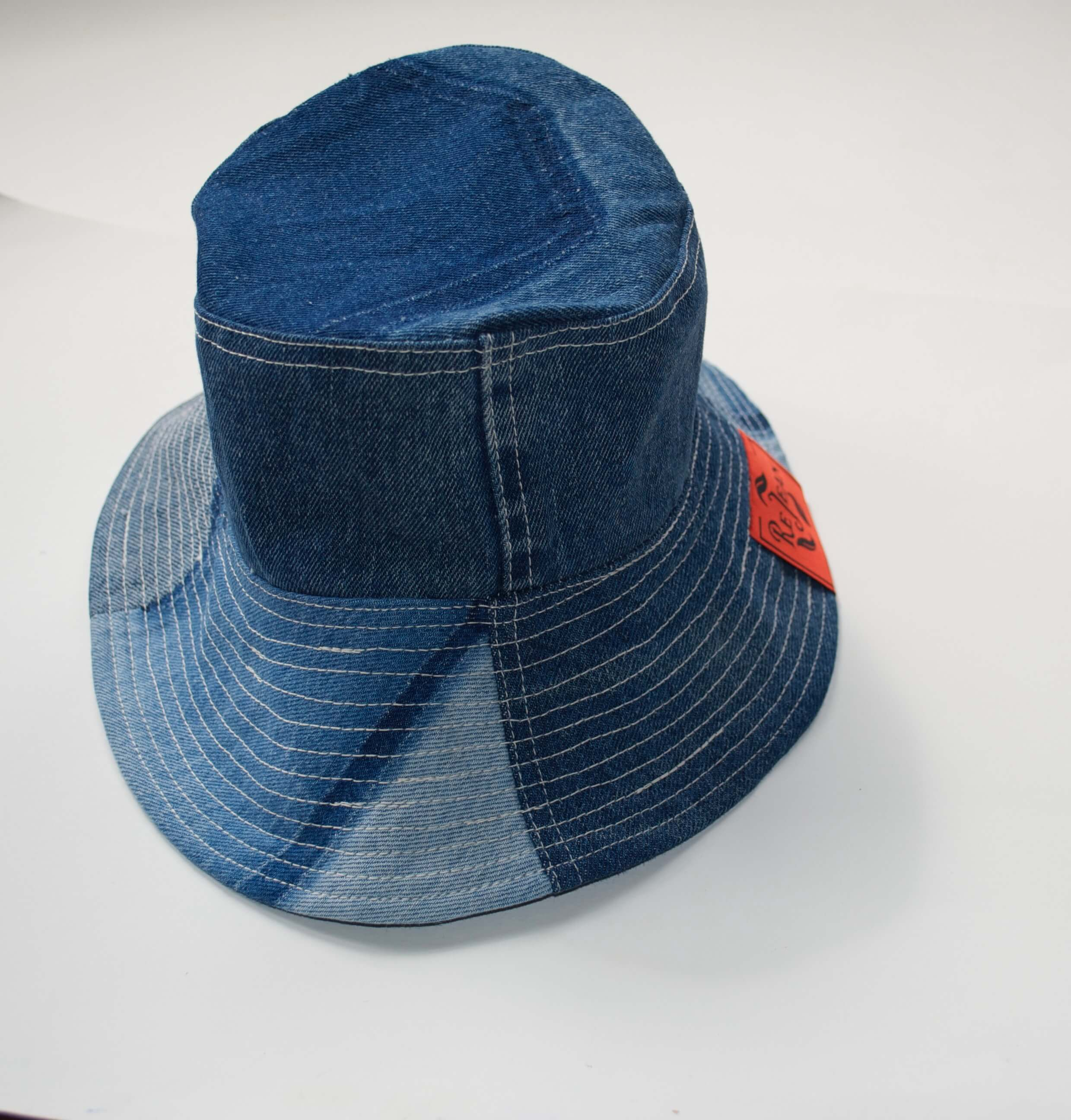 STONE WASH DENIM BUCKET HAT - ReJean Denim - zero waste - circular fashion brand