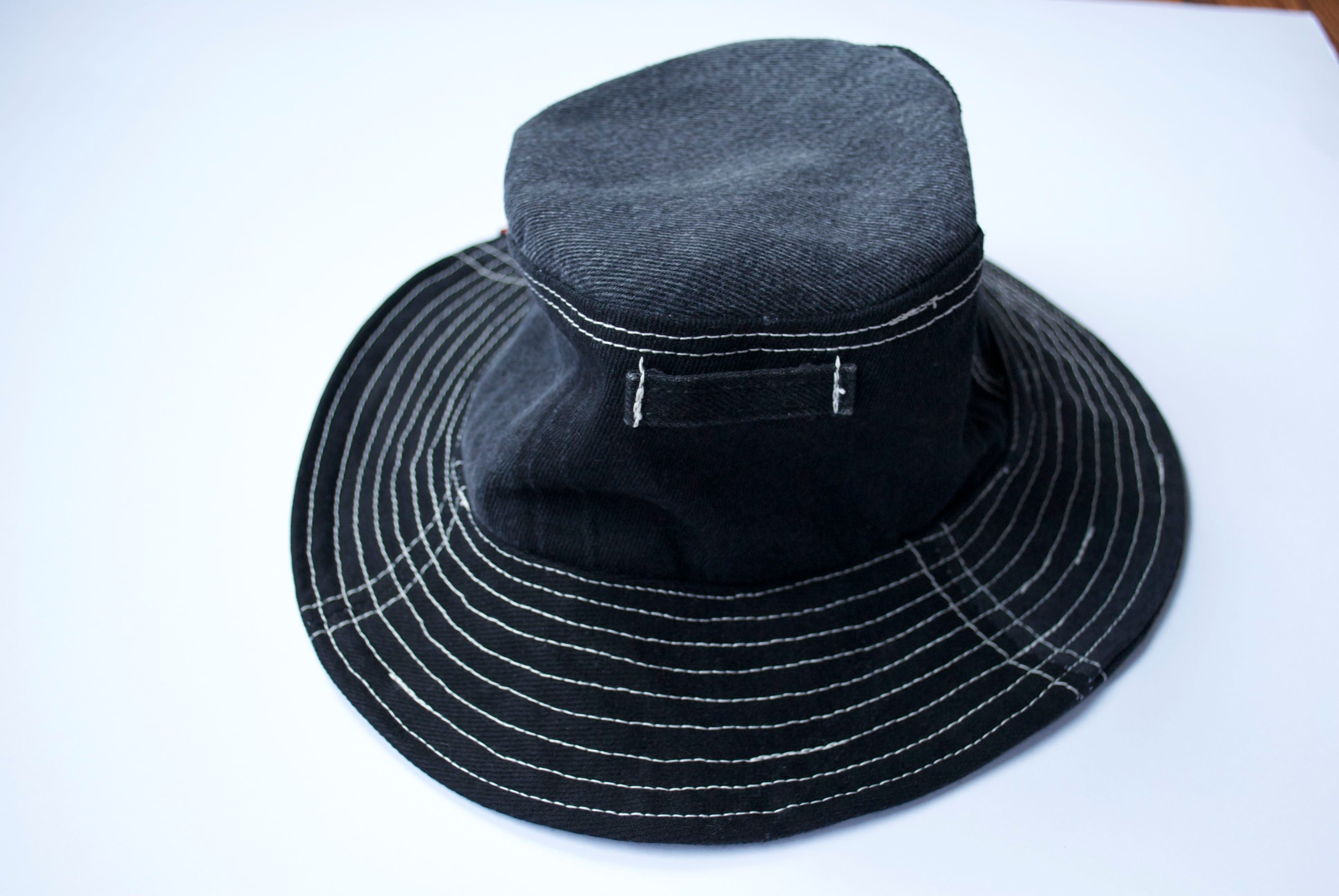 BLACK DENIM BUCKET HAT - ReJean Denim