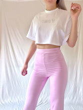 Laden Sie das Bild in den Galerie-Viewer, Baby Pink Split Hem Flares
