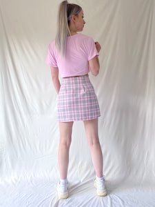 Baby Pink Cropped Tie Top