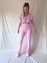 Laden Sie das Bild in den Galerie-Viewer, Baby Pink Cropped Tie Top
