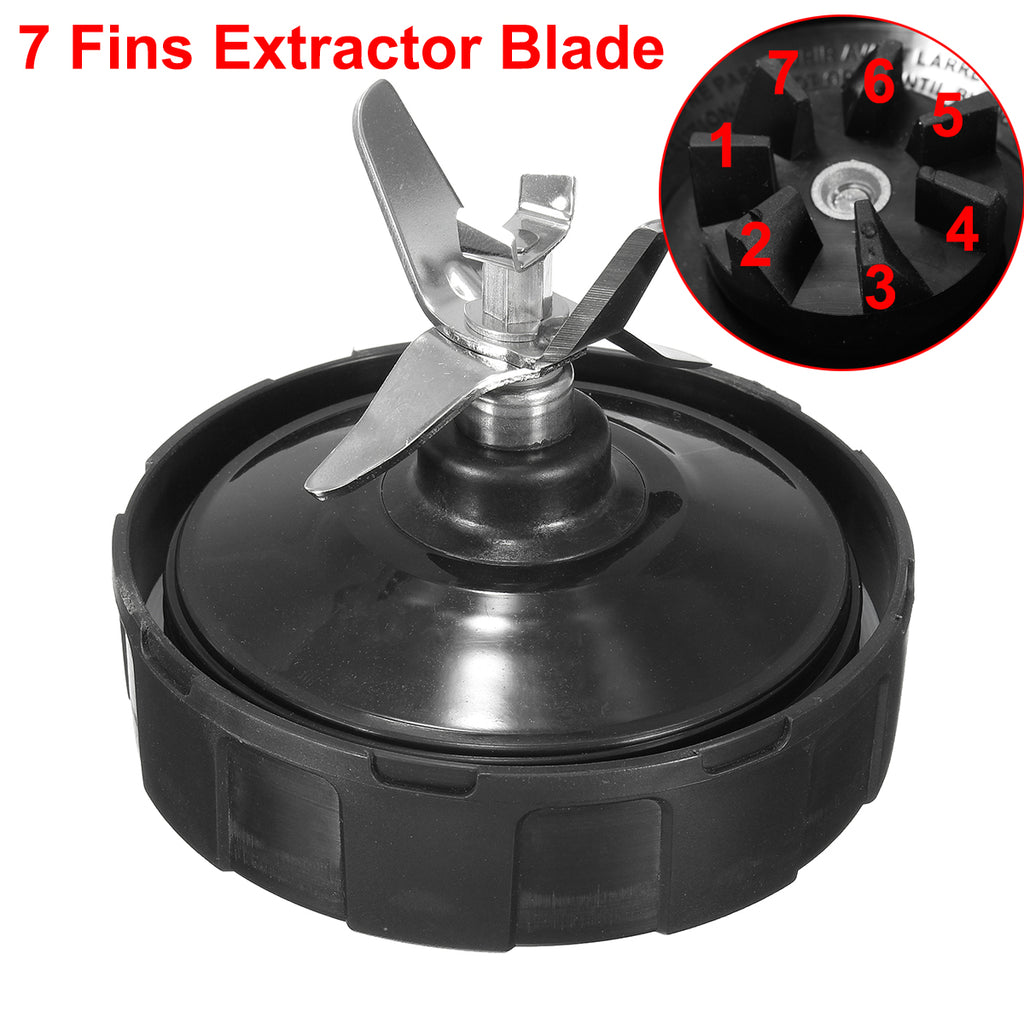 7 Fins Blender Extractor Blade Assembly Replacement For Nutri Ninja BL487 BL488W BL490 BL492 BL492W - nimisbestdeal.com