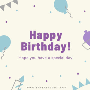 Happy Birthday Card - Ethereal Gift