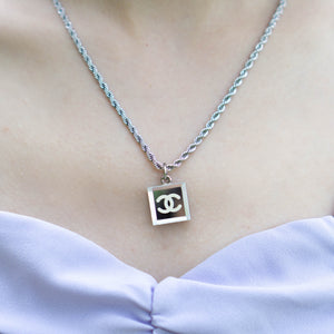 Chanel Mirrored Glass 2003 Cruise Collection Necklace