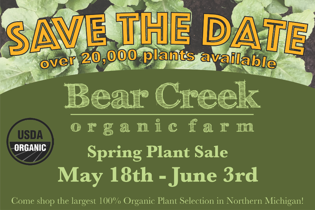 BEAR CREEK ORGANIC PLANT SALE 2017 IS COMING SOON!