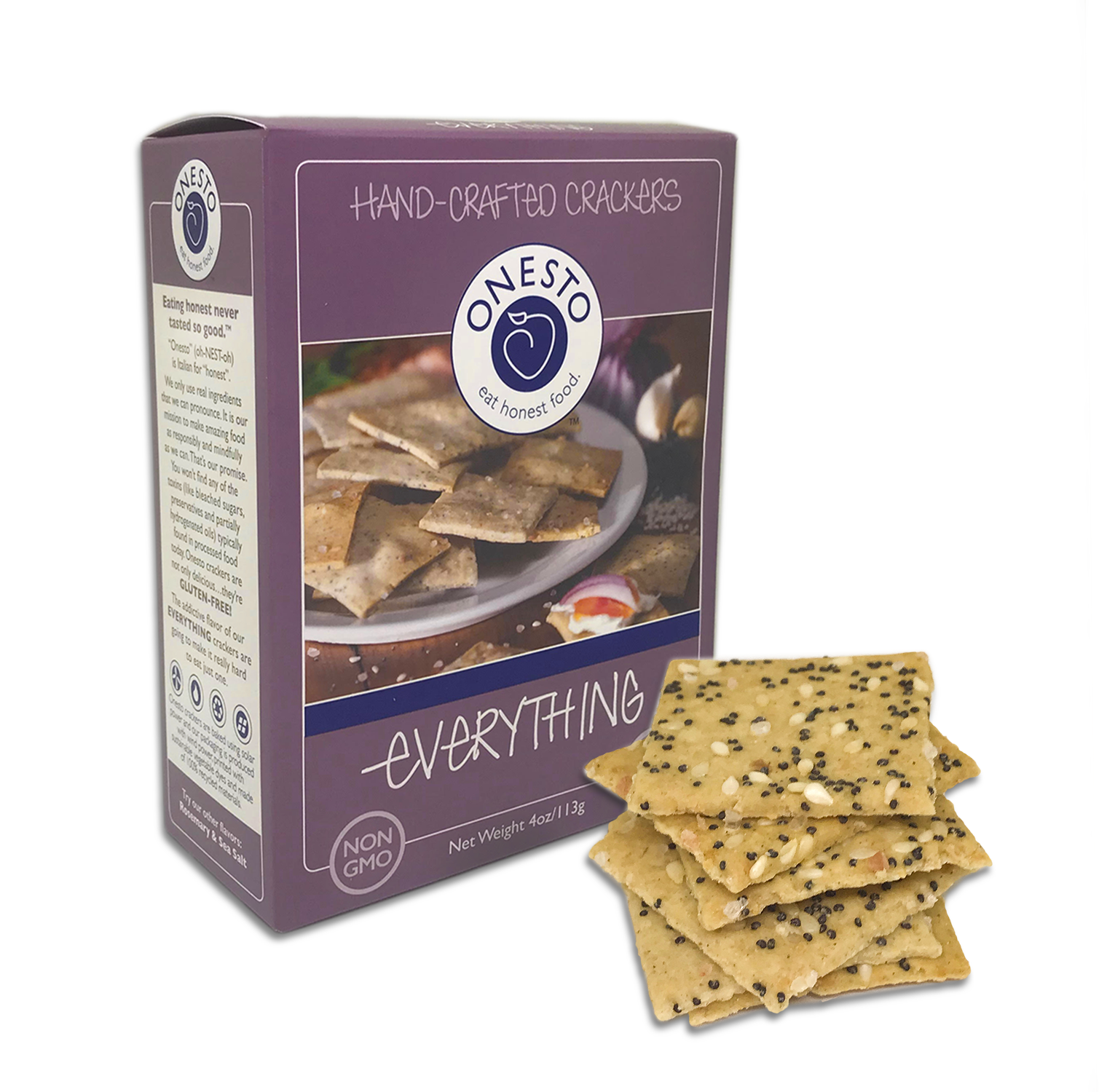 Onesto Foods - Onesto Foods Everything Crackers - Retail Pack