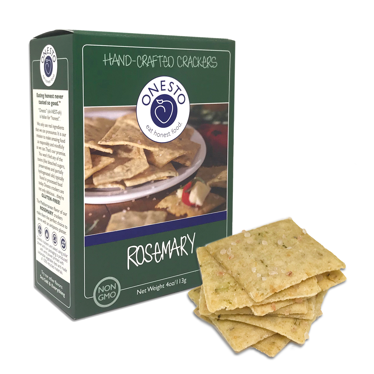 Onesto Foods - Onesto Foods Rosemary Crackers - Retail Pack