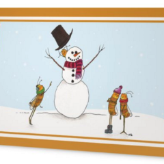 Honeybee Holiday Cards - 4-Pack
