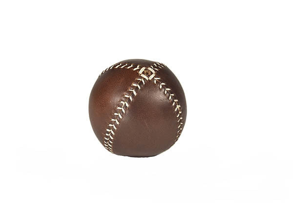 Leather Head - LEMON BALL™ Brown with White Stitch - Baseball