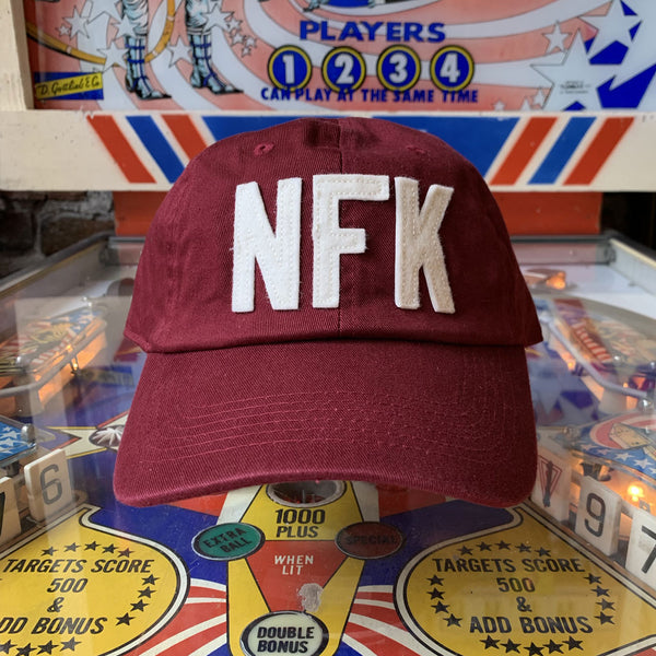 NFK Dad Hat - Maroon / Cream