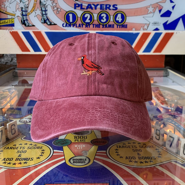 Cardinal Dad Hat - Washed Cardinal
