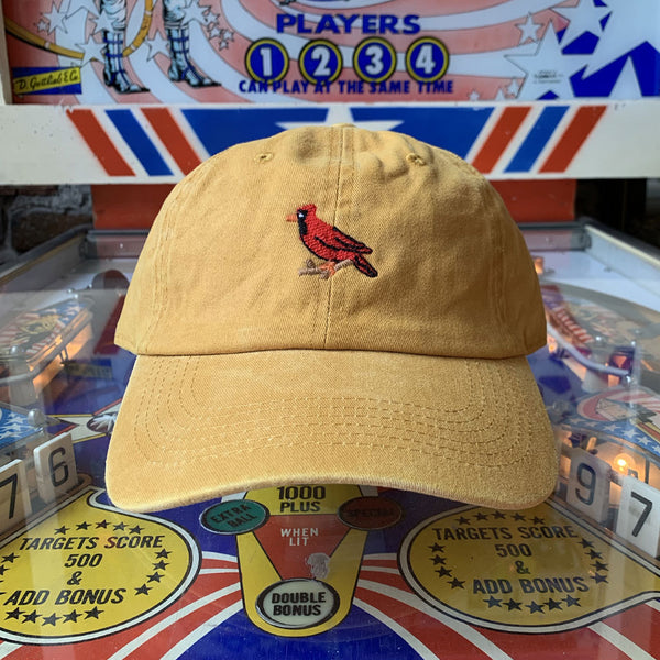 Cardinal Dad Hat - Washed Mustard