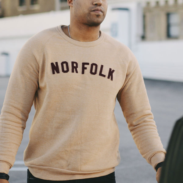 Norfolk Appliqué Sweatshirt - Camel
