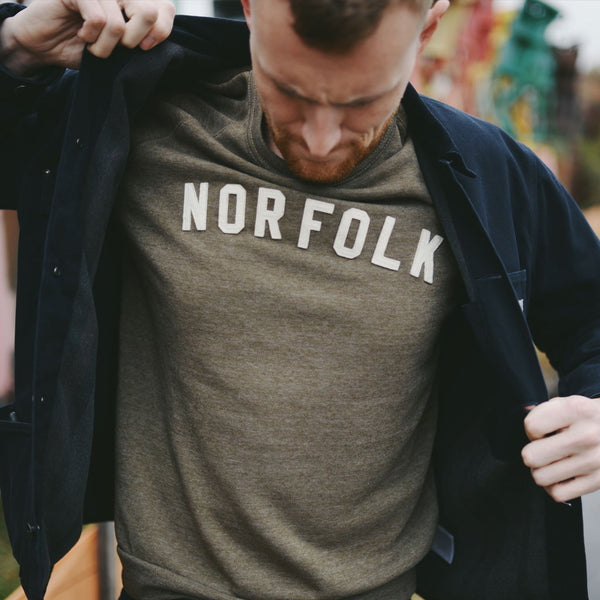Norfolk Appliqué Sweatshirt - Dark Olive