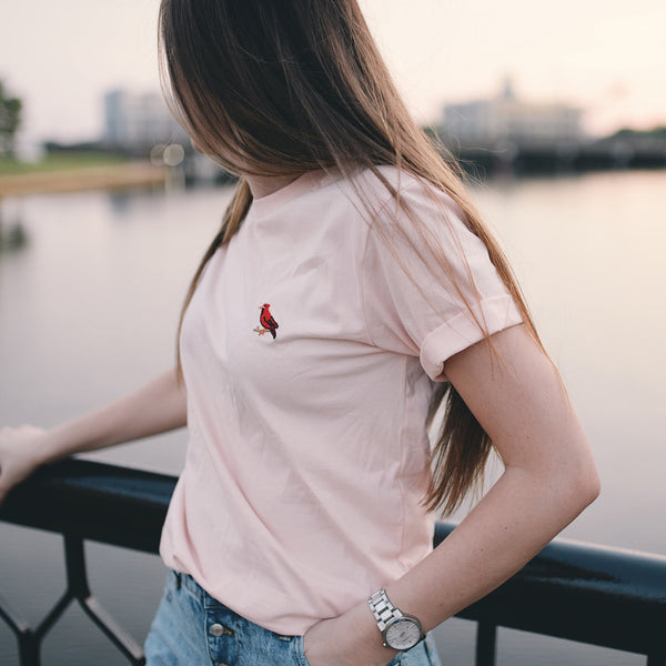 Cardinal Embroidered - Tee