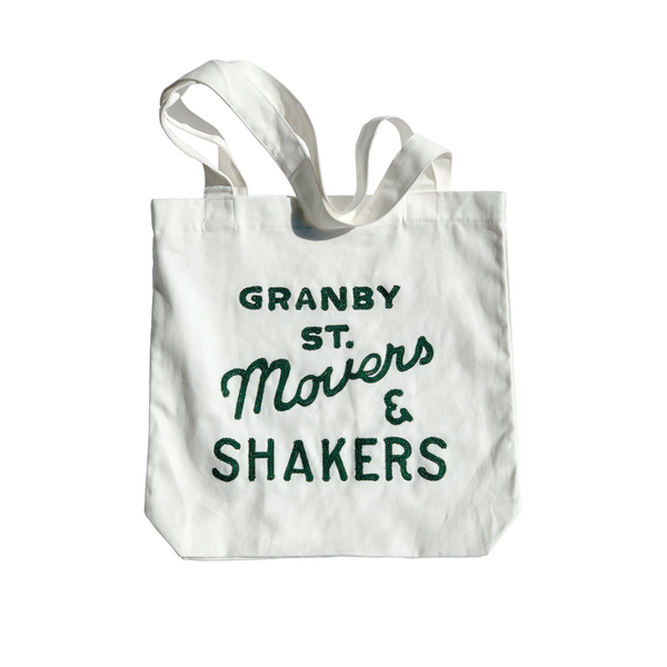 Granby Street Movers & Shakers - Chain-stitched Canvas Tote