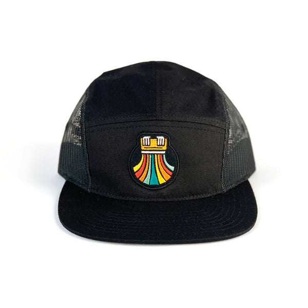 Print the Rainbow Mesh Side 5-Panel - Hat