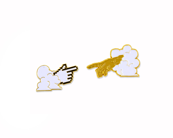Holy Cursor Enamel Pin (set of 2)