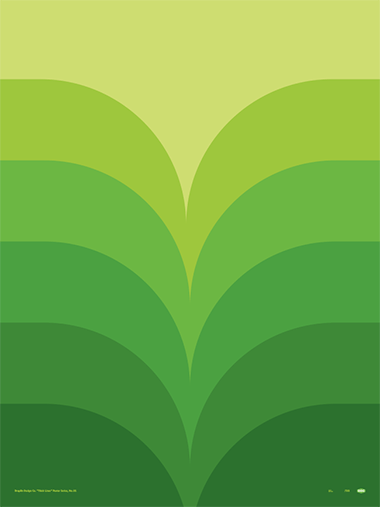 Thick Lines - Foliage - Poster