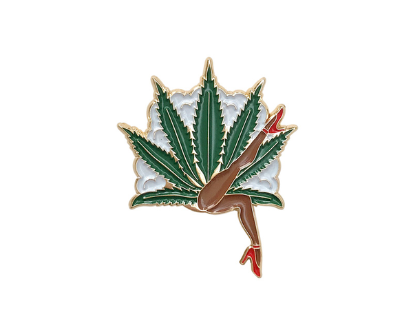 """Lady Leaf"" Enamel Pin"
